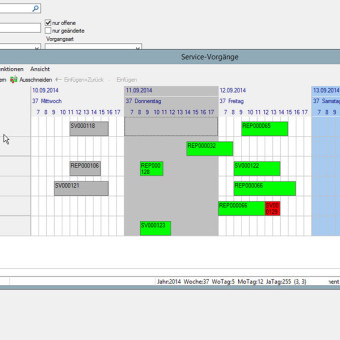 Visuelle Einsatzplanung von Servicetechnikern